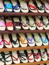 Shelf of flip flops